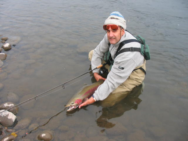 Neil with large B run Rogue River steelhead