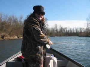 Teri flyfishing for steelhead