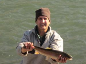Didn't take long to tempt this steelhead with a G.R. Hare's Ear Nymph