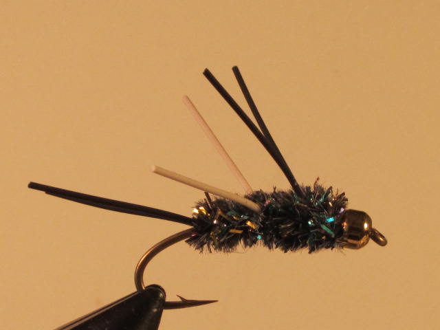 FLY FISHING FLIES UGLY BUG BLACK TROUT NYMPH
