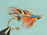 An Atlantic salmon fly pattern originated by the late Poul Jorgensen. During his time Poul was known among the best fly tyers in the world, largely because of his work with classic salmon flies. The Sir Conrad was tied for his friend Bill Conrad of television fame.