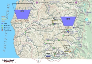 Click on this icon in the right side column of this page to access Rogue River water flows.