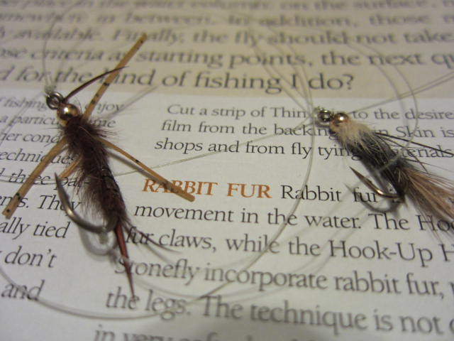 Two good fly patterns on the end of your line. A larger fly followed by a smaller one.