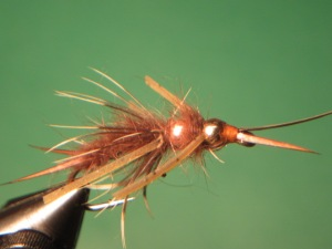 Double Bead Brown Stonefly Nymph.