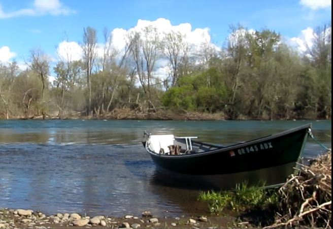 The Drifter parked beside the 5000 CFS Rogue River.