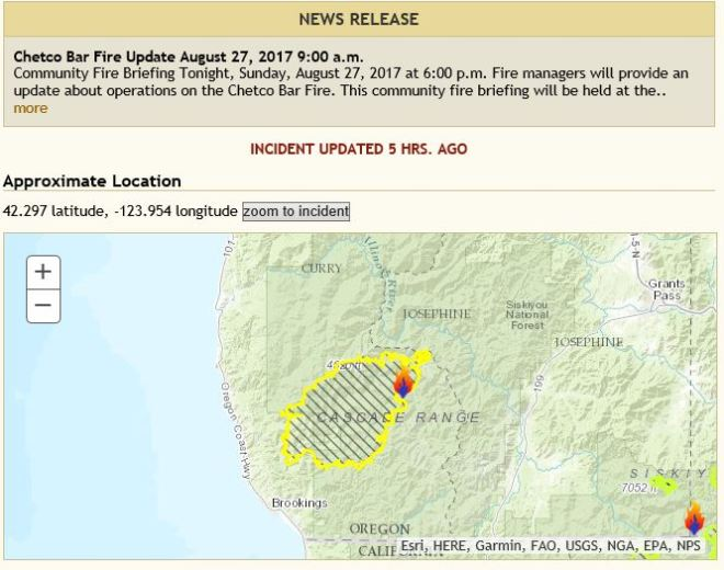 Chetco Bar Forest Fire